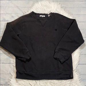 RE/DONE Champion Black Pullover Sweatshirt sz XL